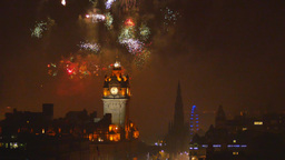 4K Fireworks in Edinburgh, Scotland, United Kingdo Live Action