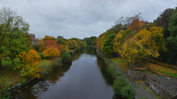 4K Water of Leith in Edinburgh, Scotland, United K Live Action