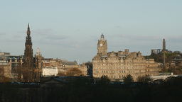 4K Balmoral Hotel and Scott Monument in Edinburgh, Footage