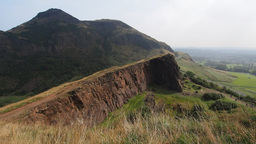 Arthur's Seat in Holyrood Park in Edinburgh, Scotl Footage