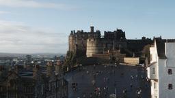 4K Edinburgh Castle in Scotland Live Action