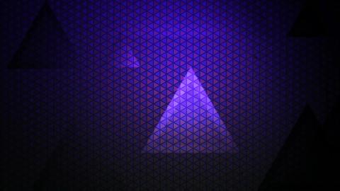 Purple Lights Traingle stock footage