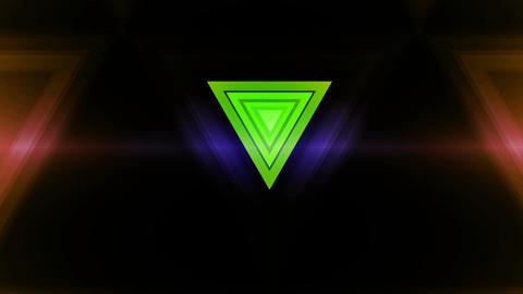 Trigonal Green Lights stock footage