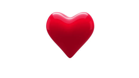 Red heart thumping on white background Animation