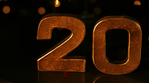 Large 2015 Sign For New Year stock footage