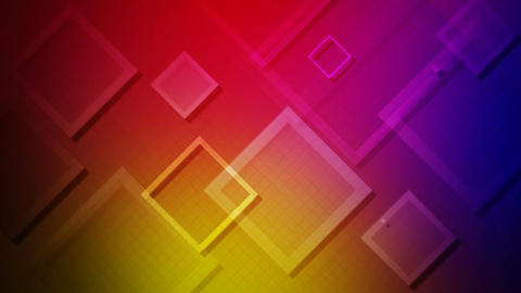 colorful flying rhombus Animation