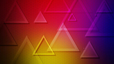 colorful traingle overlayer Animation