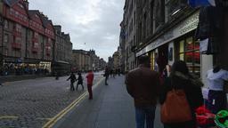 The Royal Mile in Edinburgh, Scotland Live Action
