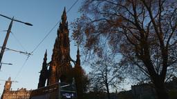 4K Buses on Princes Street in Edinburgh, Scotland Footage