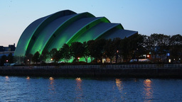 Clyde Auditorium in Glasgow, Scotland Footage
