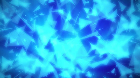 Blue Fuzzy Glowing Triangles Loop 1 stock footage