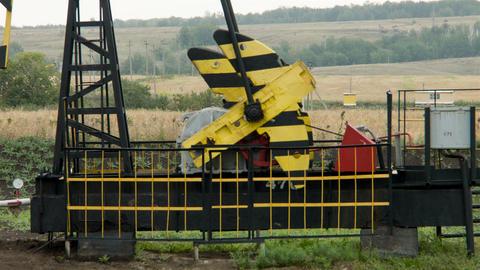 Mechanical oil pump, close up Footage
