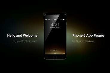Phone 6 App Promo After Effects Template