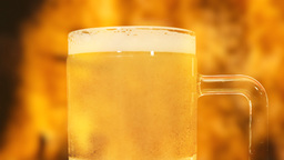Beer Fire No Drink And Drive stock footage