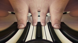 Bizarre fingers playing piano Footage