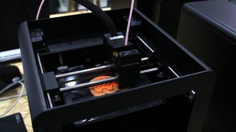 3D Printer Processing stock footage