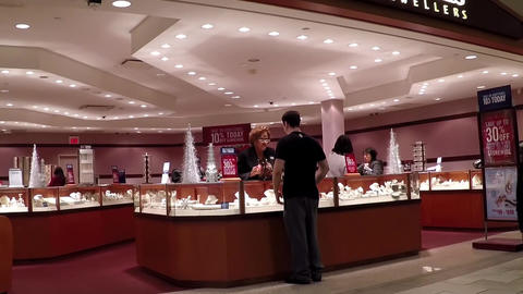 People shopping jewelry inside People jewelry stor Footage