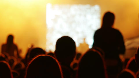 Concert In A Nightclub stock footage