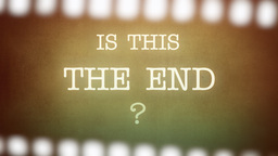 Film vintage Is This The End strip Footage