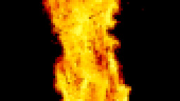Fire pixelated big flame Footage