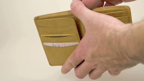 A hand opening a wallet with Euro bills Footage