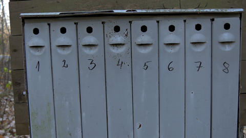 Eight mailboxes found outside the house Footage