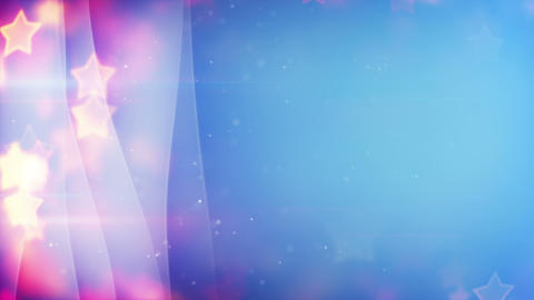 stars bokeh lights and curved lines loopable backg Animation