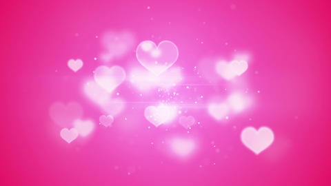 pink heart shapes bokeh loopable romantic backgrou Animation