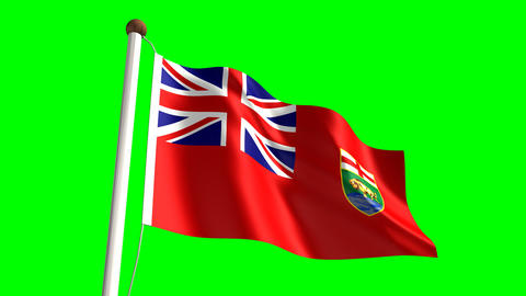 Manitoba flag Animation
