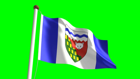 Northwest Territories flag Animation