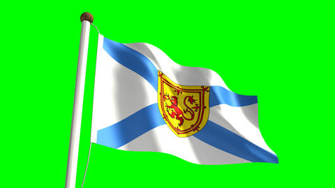 Nova Scotia flag Animation