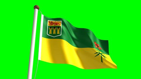 Saskatchewan flag Animation