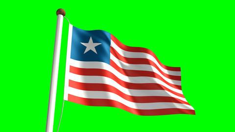 Liberian flag Animation