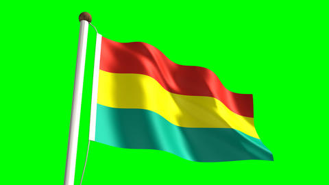 Bolivian flag Animation