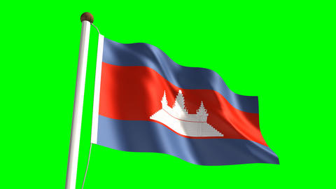 Cambodian flag Animation