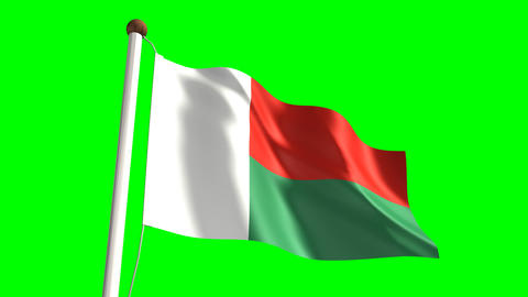 Madagascar flag Animation