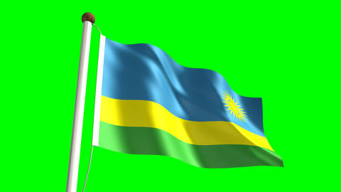 Rwandan flag Animation