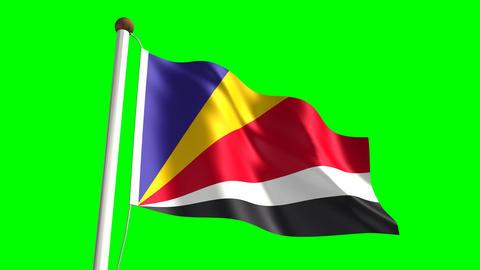 Seychelles flag Animation