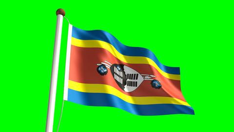 Swazi flag Animation