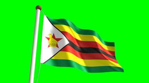 Zimbabwean flag Animation