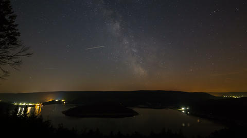 Milkyway Above Lake Timelapse 4K stock footage