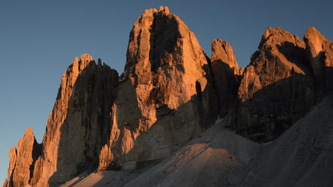 sunset time lapse tre cime de lavaredo close 11580 Footage