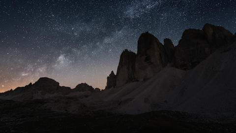 4k UHD day to night time lapse tre cime de 11583 Footage
