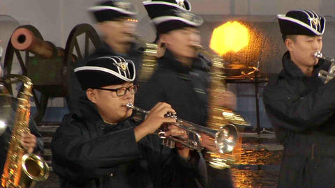 Korean military band music, performances with the Live Action