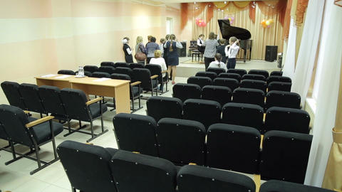 Young musicians preparing for the contest Live Action