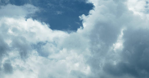 4k Panoramic of white altocumulus clouds smoke flying in cloudy sky timelapse Footage