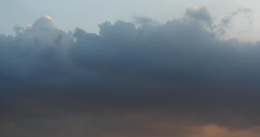 4k Panoramic of dark altocumulus clouds smoke slowly flying in cloudy sky Footage