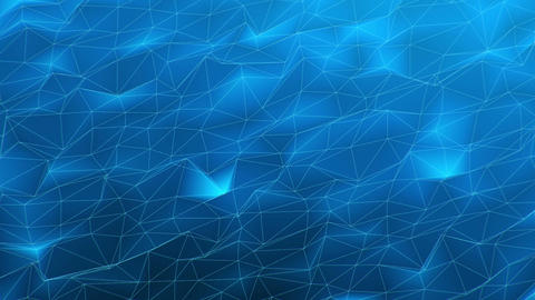 3D Looping Background - Blue polygonal landscape Animation
