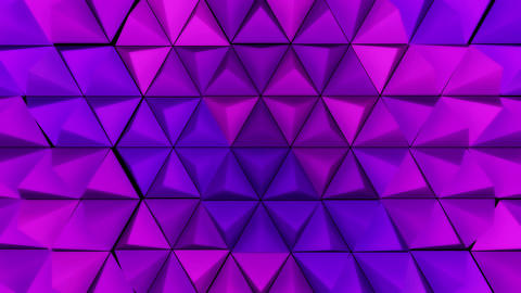 3D Looping Background - Purple pyramid peaks Animation
