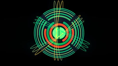 Abstract audio visualizer sphere glowing rings Animation